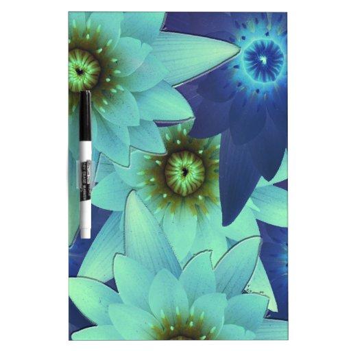 bouquet 2-tone blue flowers Dry-Erase board