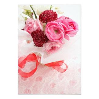 Bouquet 9 Cm X 13 Cm Invitation Card