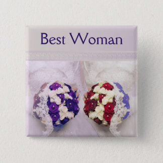 Bouquet Brides Best Woman Badge for a Gay Wedding