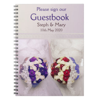 Bouquet Brides Guestbook for a Lesbian Wedding Notebooks