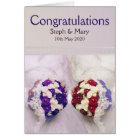 Bouquet Brides Lesbian Wedding Congratulations Card