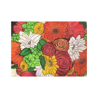 bouquet stretched canvas prints