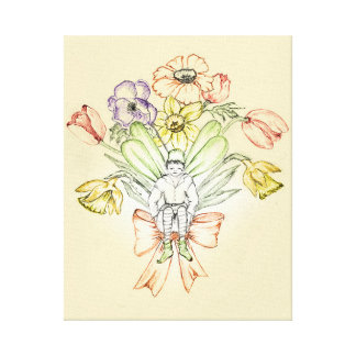 Bouquet Fairy canvas