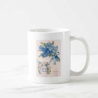 Bouquet Forget-Me-Nots Lily Of The Valley Basic White Mug