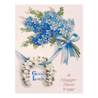 Bouquet Forget-Me-Nots Lily Of The Valley Postcard