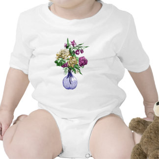 Bouquet in a Glass Vase Baby Bodysuits