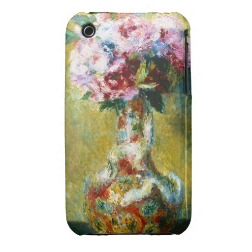 Bouquet in a Vase Pierre Auguste Renoir painting iPhone 3 Case-Mate Case