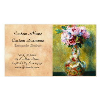 Bouquet in a Vase Pierre Auguste Renoir painting Pack Of Standard Business Cards