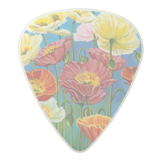 Bouquet in Border I Acetal Guitar Pick