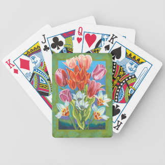 Bouquet in Border III Bicycle Playing Cards