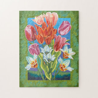 Bouquet in Border III Jigsaw Puzzle