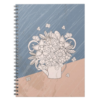 bouquet in the watering dog notebook