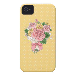 Bouquet iPhone 4 case (yellow)