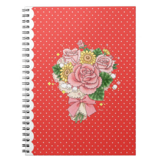 Bouquet notebook (red)