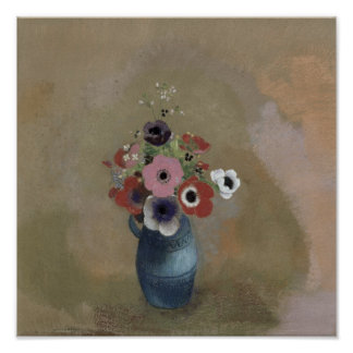 Bouquet of anemones poster