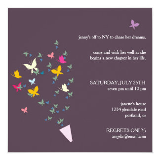 Bouquet of Butterflies - farewell party invitation