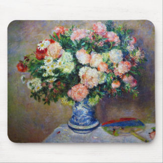 """""""Bouquet of Chrysanthemums and a Japanese fan"""" Mouse Mat"""