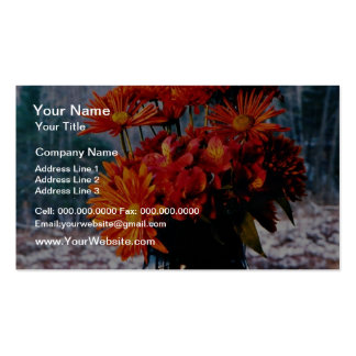 Bouquet of chrysanthemums  flowers pack of standard business cards