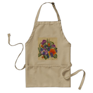 bouquet of colorful flowers standard apron