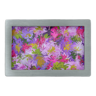 Bouquet of Colors Colorful Abstract Art Design Belt Buckle