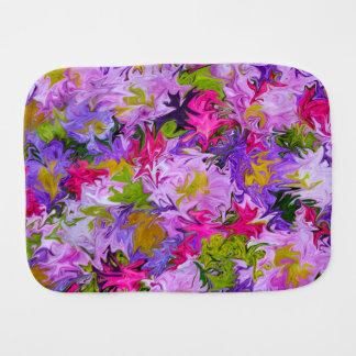 Bouquet of Colors Floral Abstract Art Design Burp Cloth