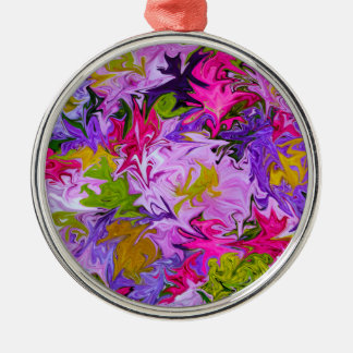 Bouquet of Colors Floral Abstract Art Design Christmas Ornament