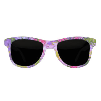 Bouquet of Colors Floral Abstract Art Design Sunglasses