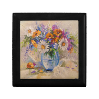 Bouquet of field small square gift box