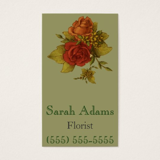 Bouquet of Flowers Business Card