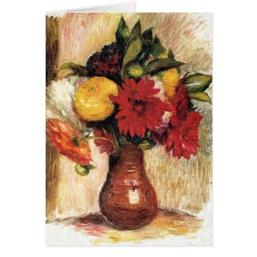 Bouquet of Flowers by Pierre-Auguste Renoir Cards