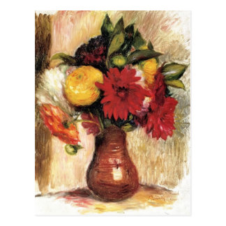 Bouquet of Flowers by Pierre-Auguste Renoir Postcard