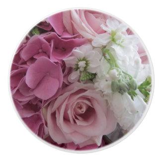 Bouquet of Flowers Ceramic Door Knob