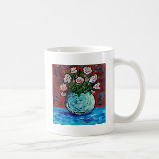 Bouquet of flowers impressionist art basic white mug