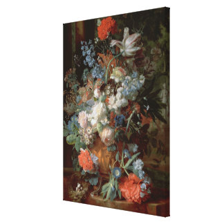 Bouquet of Flowers in a Landscape Canvas Print