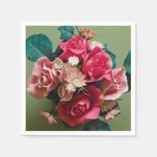 Bouquet of Flowers Paper Napkins