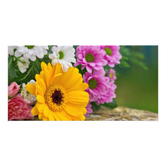 Bouquet of flowers photo cards