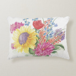 Bouquet of flowers pillow