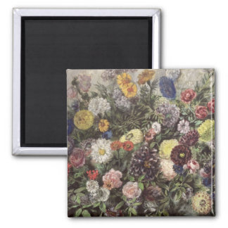 Bouquet of Flowers Square Magnet