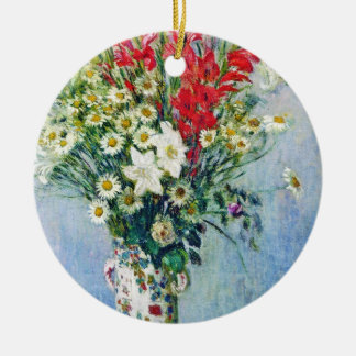 Bouquet of Gadiolas Lilies and Dasies Claude Monet Ornament