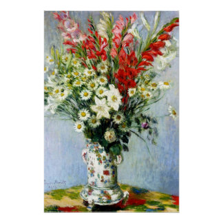 Bouquet of Gladiolas Poster