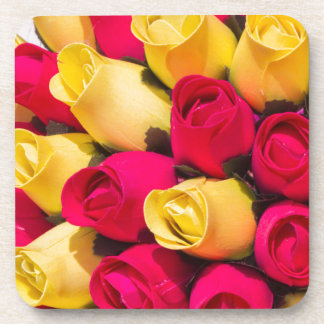 bouquet of handmade roses drink coaster