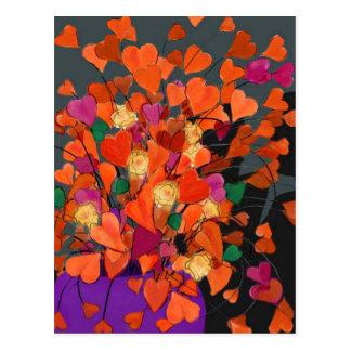 Bouquet of Hearts Postcard