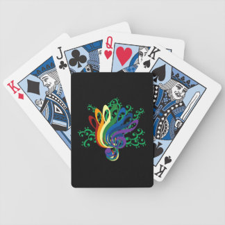 Bouquet of Music Clefs Bicycle Playing Cards