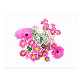 Bouquet of Pink Flowers Postcard