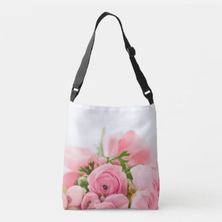 Bouquet Of Pink Roses Crossbody Bag