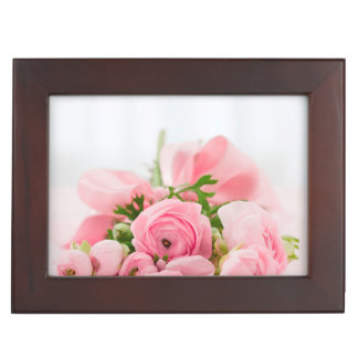 Bouquet Of Pink Roses Keepsake Box