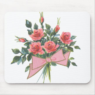 Bouquet of Pink Roses Mouse Pad