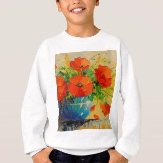 Bouquet of poppies in vase sweatshirt
