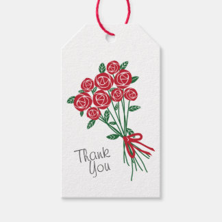 Bouquet of Red Roses Gift Tags