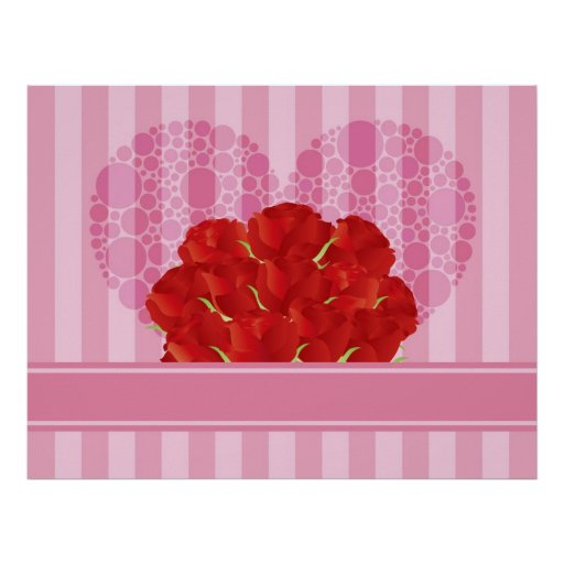 Bouquet of Red Roses Poster